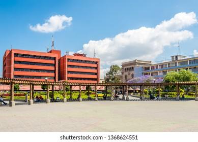 GUATEMALA CITY,GUATEMALA - MARCH 2,2019 - View at the Place of Concordia in Guatemala City. Guatemala city is capital of Guatemala.