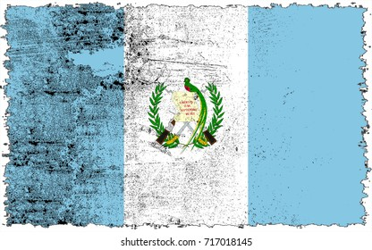 Guatemala flag grunge background. Background for design in country flag