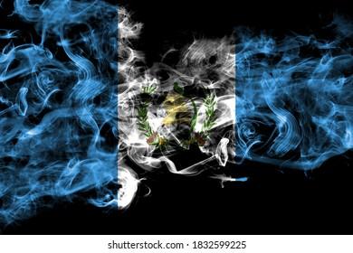 Guatemala smoke flag isolated on black background