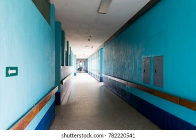 GUATEMALA, Tiquisate - December 15, 2017. Hall hospital public in Guatemala, Tiquisate, poverty, neglect, abandonment. EDITORIAL