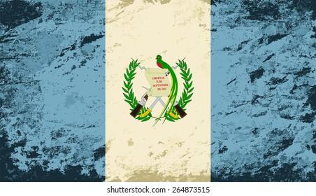 Guatemalan flag Grunge background. Raster version