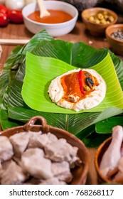 Guatemalan tamales, a traditional dish for Christmas and Saturdays.