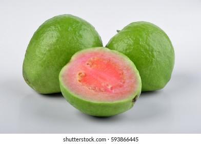 Guava Fruit White Background