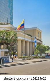GUAYAQUIL, ECUADOR, MAY - 2016 - Goverment modern palace at kennedy north district at Guayaquil city, Ecuador