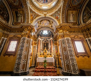Gubbio - Italy - September 26 2019 - Interiors of the Cathedral