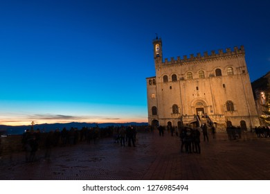 Gubbio is a medieval town in Umbria italy