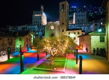 Gubbio, medieval town in Umbria (Italy)