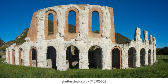 Gubbio, one of the most beautiful small town in Italy. The ruins of the Roman theater