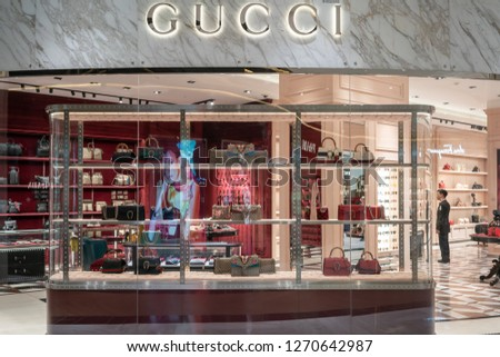 5ea71787e90 Gucci Shop King Power Bangkok Thailand Stock Photo (Edit Now ...
