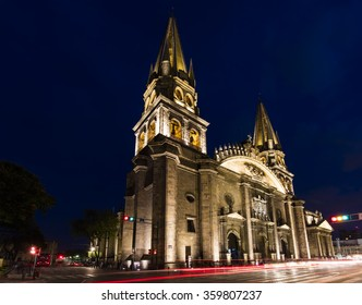 The Gudalajara Cathedral  Cathedral of the Assumption of Our Lady at sunset