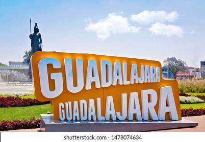 Gudalajara, Mexico-10 April, 2019: Landmark Minerva monument in Guadalajara historic center