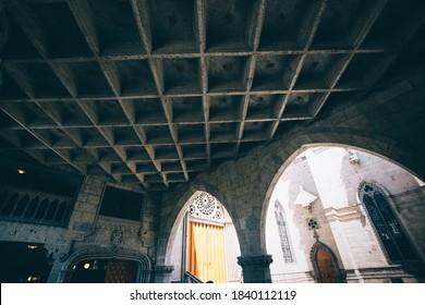 Gudalajara, Mexico-10 April, 2020: Famous Blessed Sacrament Temple in Guadalajara (Templo Expiatorio del Santisimo Sacramento)