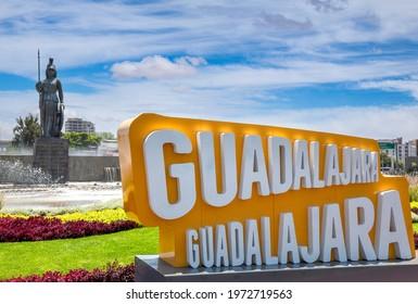 Gudalajara, Mexico-10 April, 2020: Landmark Minerva monument in Guadalajara historic center