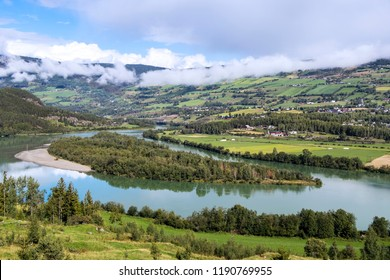 The Gudbrandsdalslagen is a river which flows through the valley of Gudbrandsdal in Norway. Between the municipalities of Ringebu and Oyer the river widens and creates the large so-called riverlake