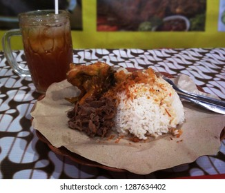 Gudeg is a traditional Javanese cuisine from Yogyakarta and Central Java, Indonesia. Gudeg is made from young unripe jack fruit (Javanese: gori, Indonesian: nangka muda)