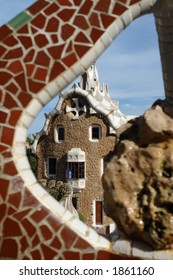 The Guell park in Barcelona made by Gaudi