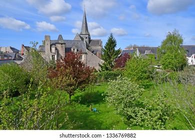 Guerande, France - april 14 2017 : the medieval city in spring