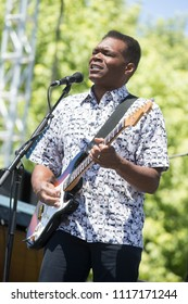 Guerneville, CA/USA: 6/10/2018: Robert Cray performs at the Russian River Blues Festival. Cray is a five time Grammy Award winning blues musician.