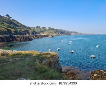 Guernsey Channel Islands, Bec Du Nez, Boat Port
