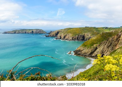 guernsey coast in spring