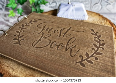 Guest book for wedding table