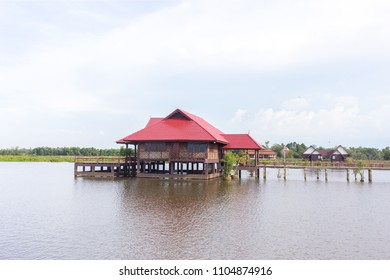 Guest house in the sea at Talay Noi national park in Phatthalung, thailand.