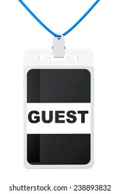 Guest Identification card on a white background