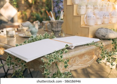 Guestbook on Table at Wedding