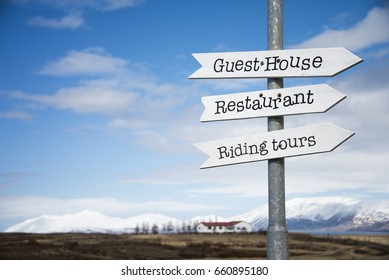 Guesthouse sign