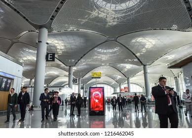 Guests walk prior to opening ceremony of new Istanbul International Airport, in Istanbul, Turkey, 29 October 2018.