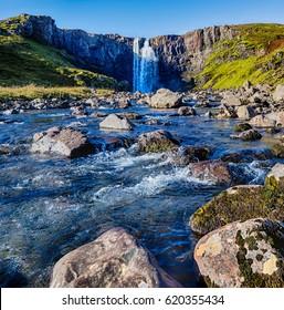 Gufufoss waterfall in Iceland