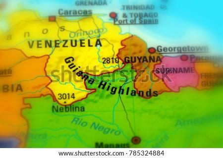 Guiana Highlands Plateau Lowmountain Region South Stock Photo (Edit ...