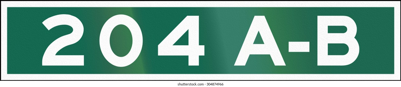 Guide road sign in Canada - Street Number. This sign is used in Ontario.