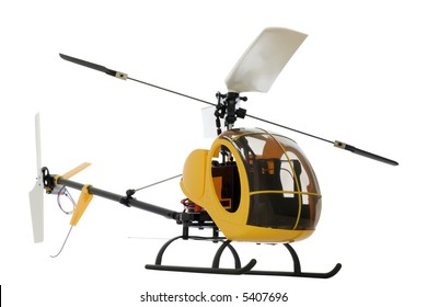 guided by radio model of helicopter. isolated on white. Works on accumulators.