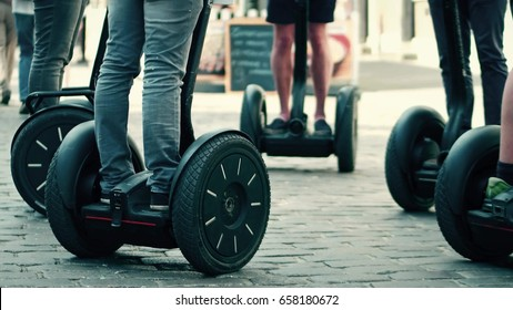 Guided segway tour in a tourist place