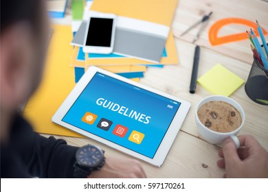 GUIDELINES CONCEPT ON TABLET PC SCREEN