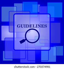 Guidelines icon. Internet button on abstract background.