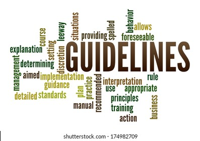 Guidelines in word collage