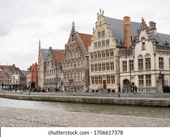 guild houses of Ghent by the canal