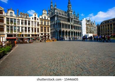 Guild houses on the Grand Place, Brussels, Belgium
