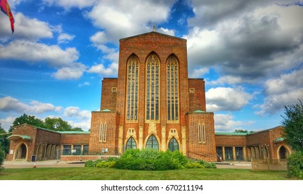 Guildford Cathedral- The Cathedral Church of the Holy Spirit, Guildford is the Anglican cathedral at Guildford, Surrey, England. Designed by Sir Edward Maufe and built between 1936 and 1961.