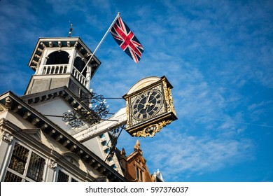 Guildford High Street clock, Surrey, England