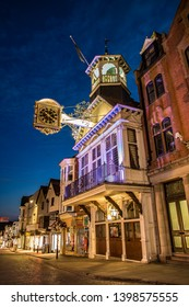 Guildford High Street at night Surrey England