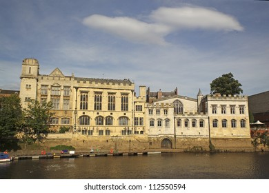 The Guildhall in York, England taken from the River Ouse