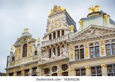 Guildhalls on the Grand Place in Brussels, Belgium.