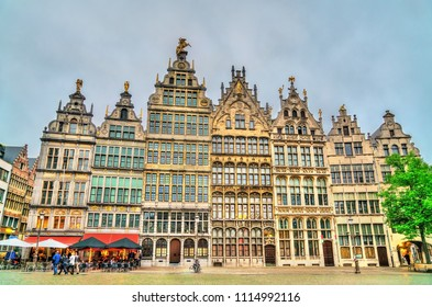 Guildhalls on the Grote Markt Square in Antwerp - Flanders, Belgium