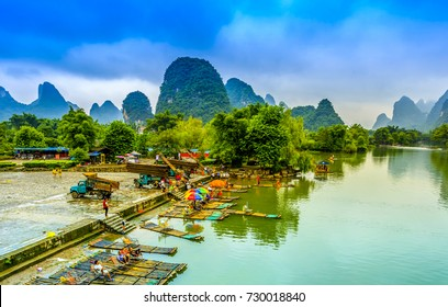 Guilin, Yangshuo, beautiful scenery of mountains and rivers