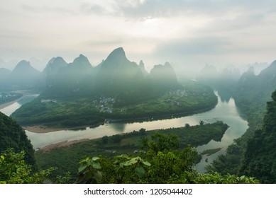 Guilin Yangshuo Mountain Range