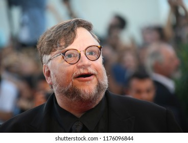 Guillermo del Toro walks the red carpet ahead of the Award Ceremony during the 75th Venice Film Festival at Sala Grande on September 8, 2018 in Venice, Italy.