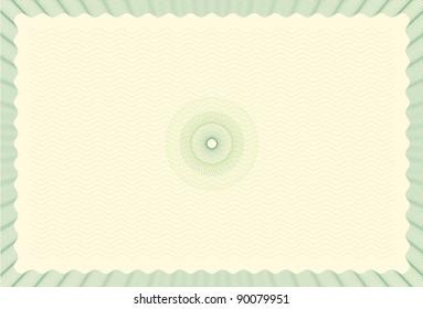 Guilloche Background for Certificate, Voucher, Diploma - Bitmap Illustration